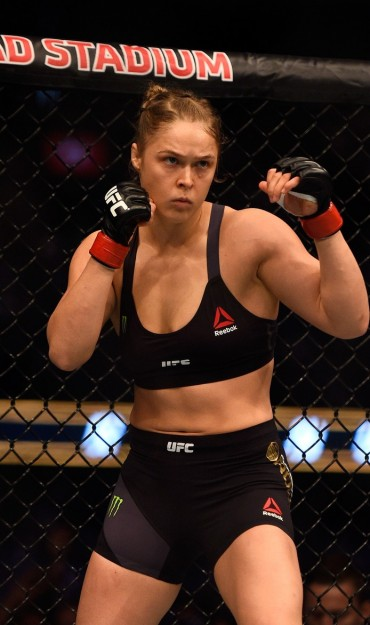 Ronda Rousey competes in UFC 193