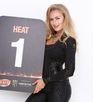 Monster Girls compete for their chance to run alongside Monika in the Miss Monster Energy Speedway competition.
