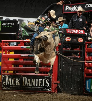 Monster athlete JB Mauney competes in the 2015 PBR season.