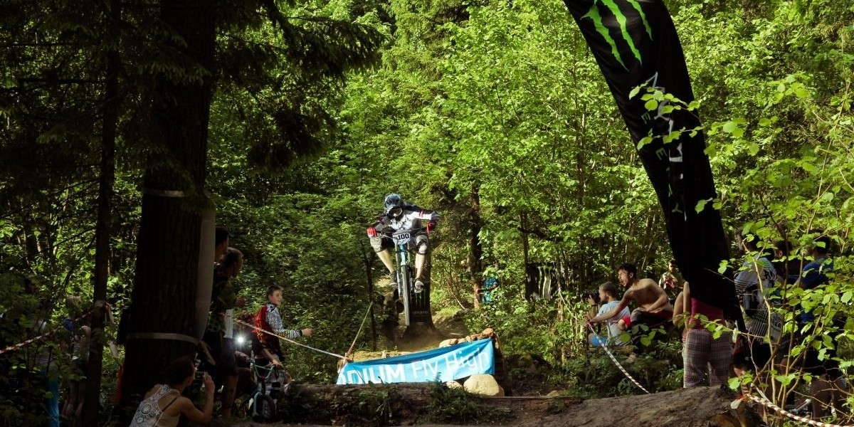 Monster Energy at the 2015 Baltic Downhill Cup in Riekstukalns, Latvia