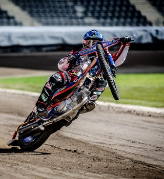 Images of speedway star Greg Hancock