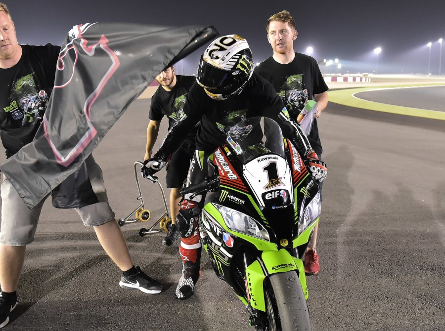 Jonathan Rea at the 2016 World Superbike Gaerne Qatar Round