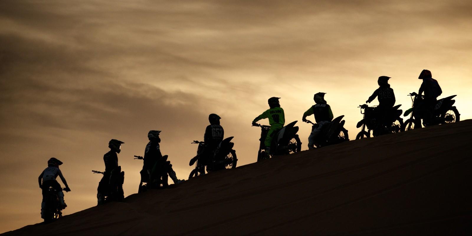 Monster athletes ride for Dirt Shark's Doonies III in Glamis, CA