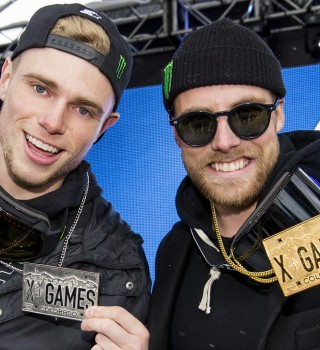Gus Kenworthy and Jossi Wells compete at Winter X Games 2016