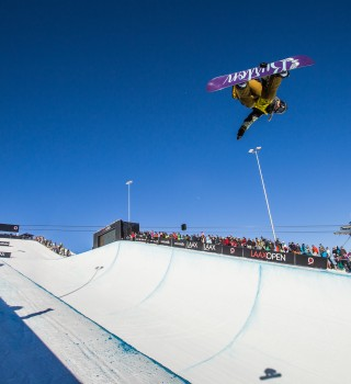 Chloe Kim at the LAAX Open.