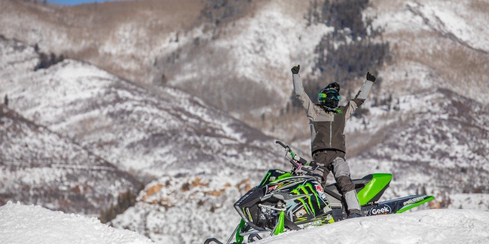 Monster athlete competing in the 2017 Winter X Games in Buttermilk Mountain in Aspen, Colorado