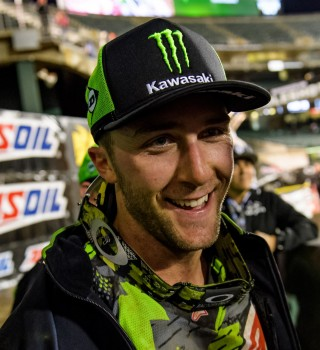 Eli Tomac during stop 5 of the 2017 Supercross season in Oakland, CA