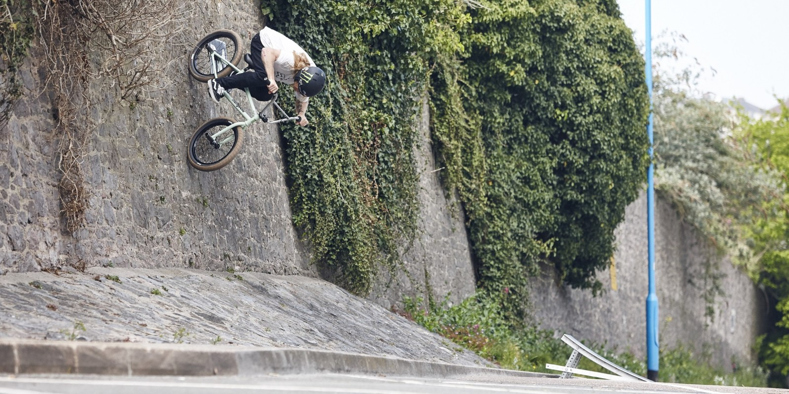 Greg Illingworth during the filming of Ramp II Ride BMX Part 5