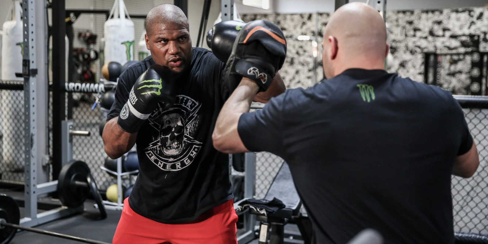 Bellator video shoot photos of Rampage Jackson at the HB Ultimate Training Center in Huntington Beach, CA