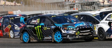 Andreas Bakkerud competes in the 2016 World Rallycross season in Barcelona, Spain