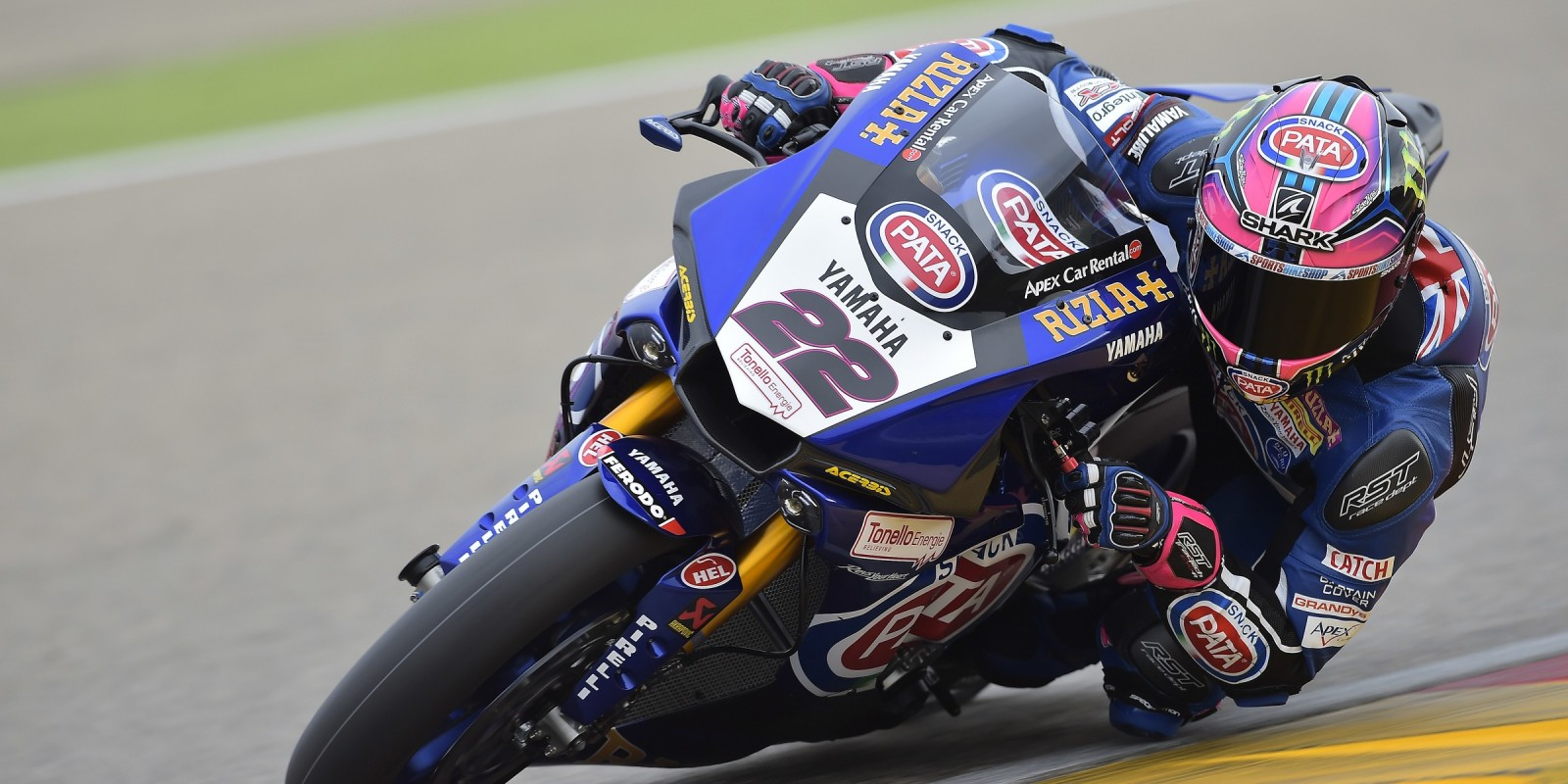 Alex Lowes at the 2017 World Superbike Pirelli Aragon Round