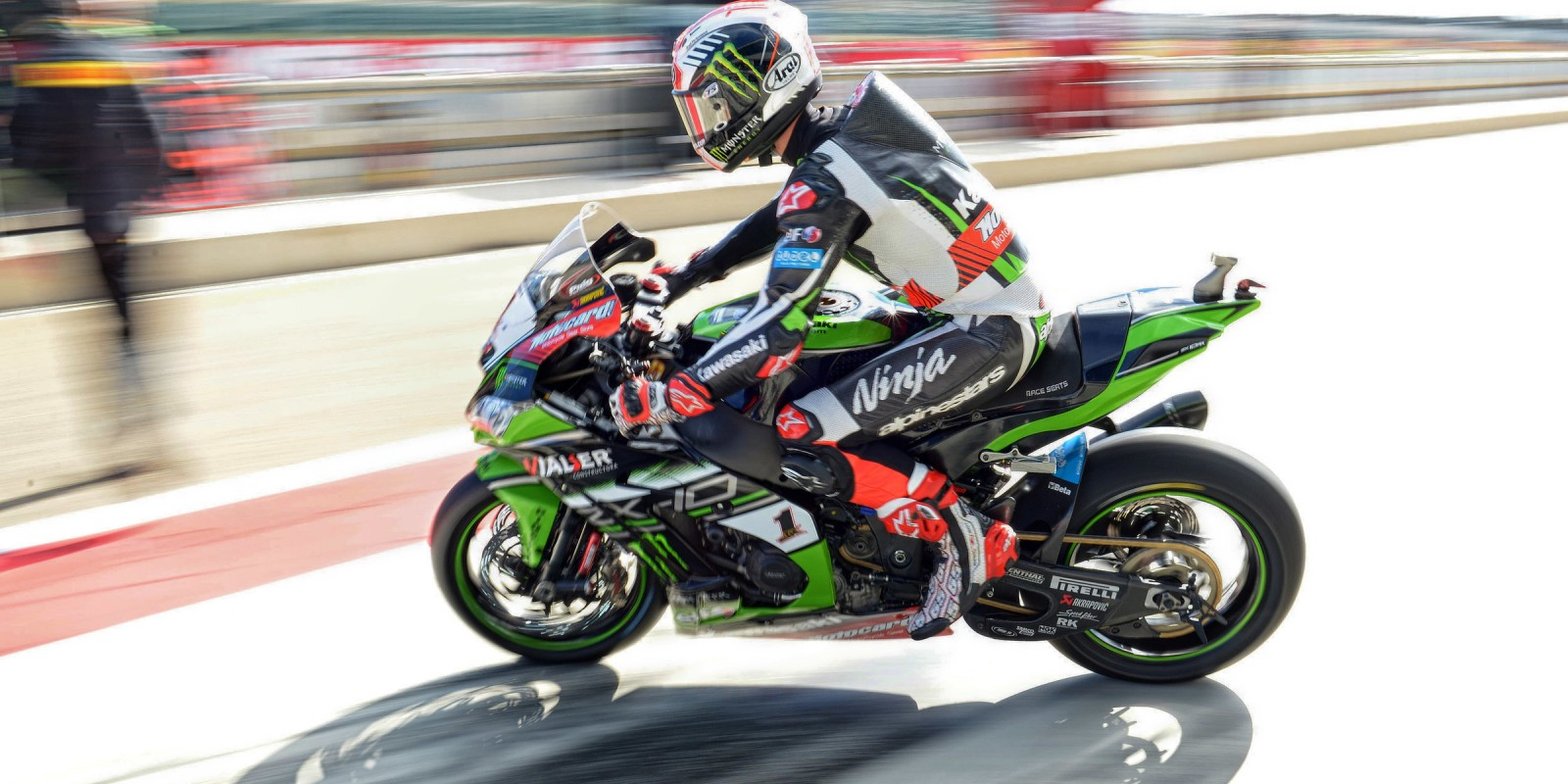 Jonathan Rea at the 2017 World Superbike Pirelli Aragon Round
