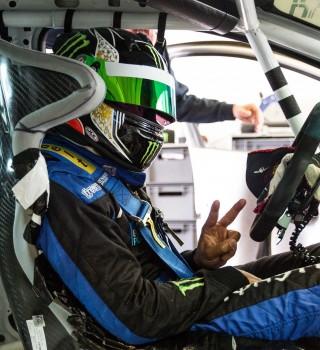 Nic Hamilton practice session at Rockingham