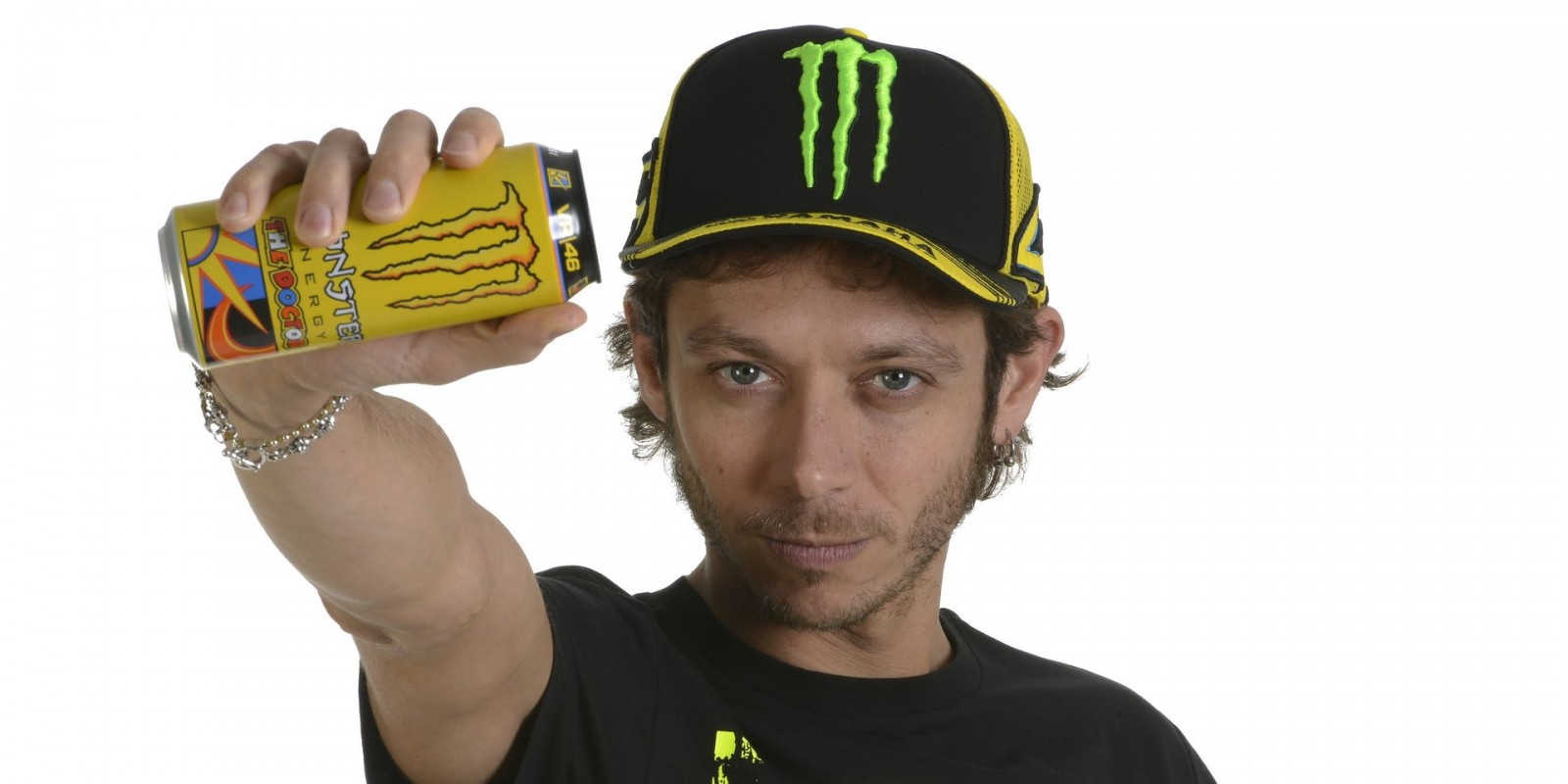 These pictures are taken for the launch of the new SKU made by Valentino Rossi. The new taste is named after his developer,