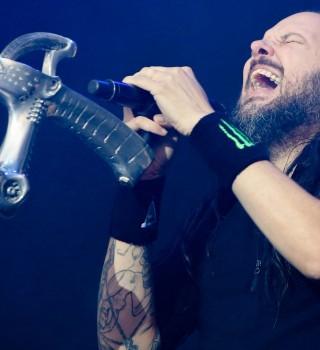 Jonathan David of Korn performing at Gods Of Metal Festival Italy 2016