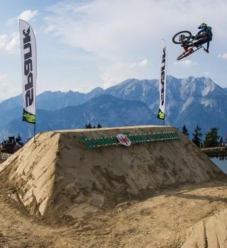 Monster athletes compete in the Crankworx Innsbruck Downhill