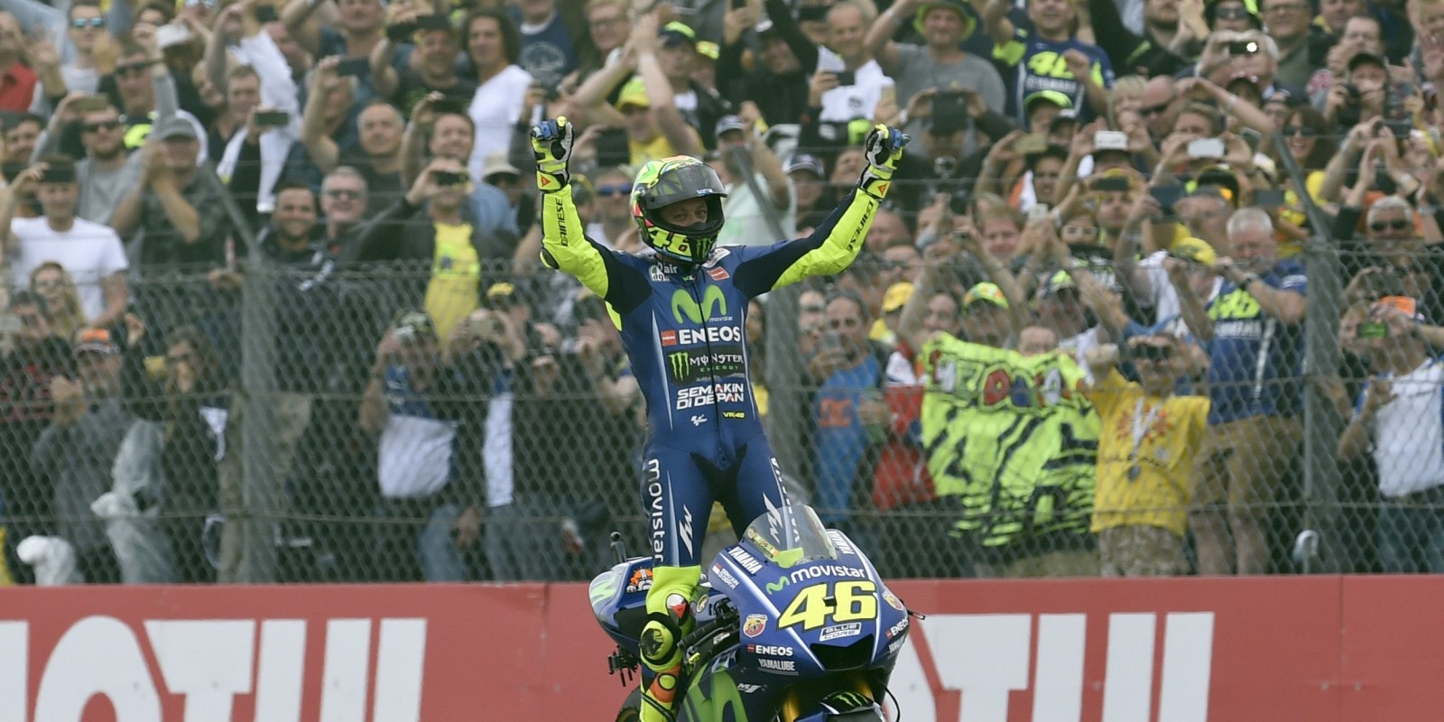 Valentino Rossi at the 2017 Grand Prix of Netherlands