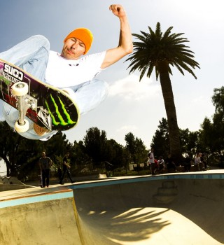 Rune Glifberg action skate shots taken in California