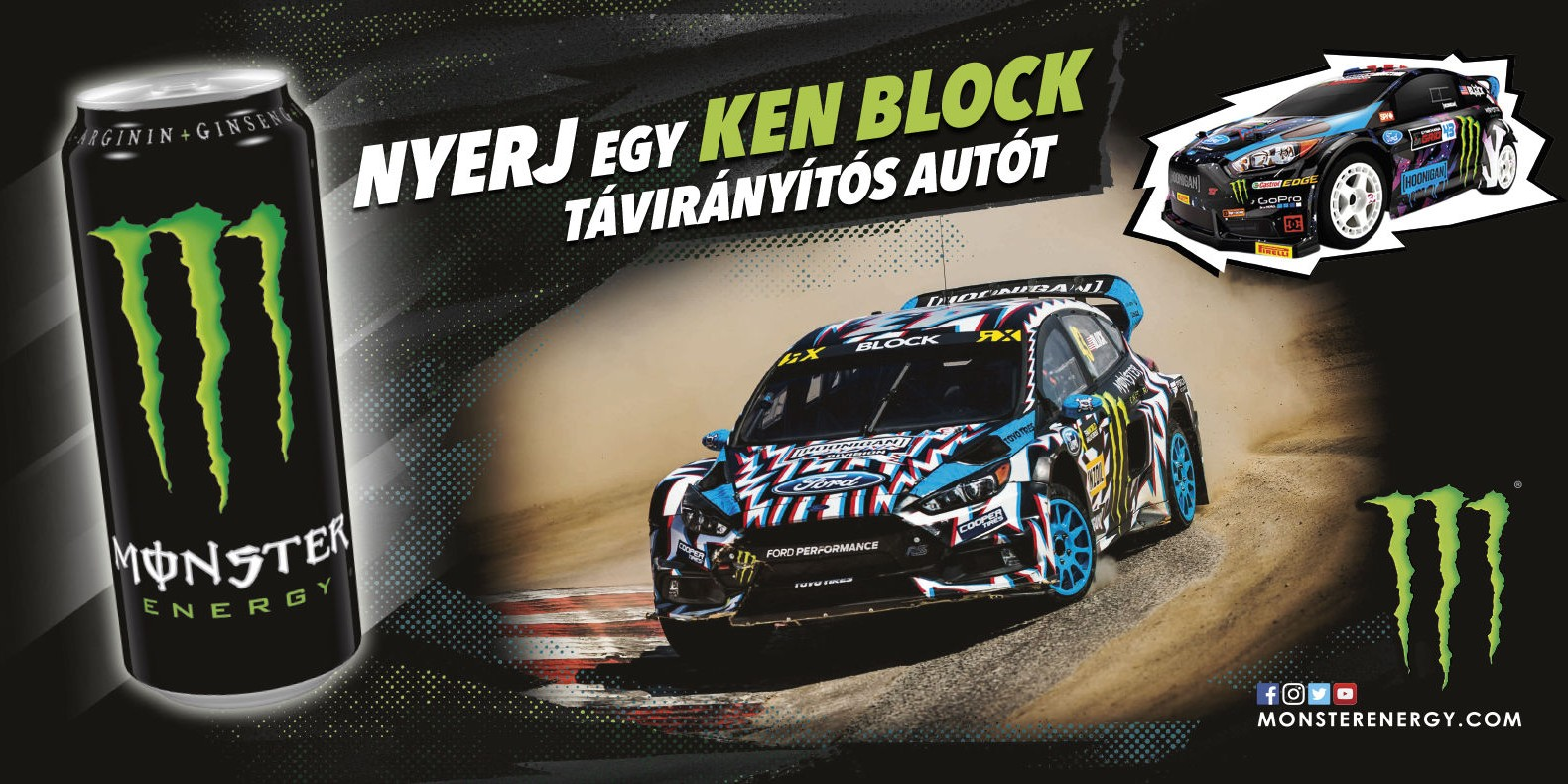 Artwork for Q2 Ken Block promotion in Hungary for COOP stores