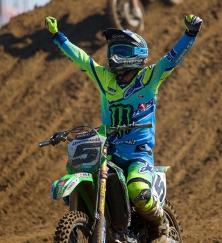 Lifestyle and action shots of Mike Alessi, Team Monster Energy Alpinestars Kawasaki from the 2017 Canadian MX Nationals at Gopher Dunes in Courtland, Ontario