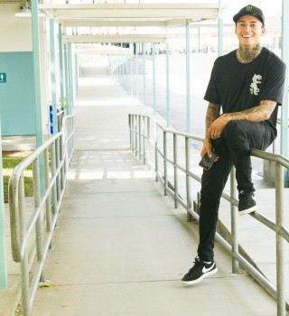 Portraits of skater Nyjah Huston taken in Southern California