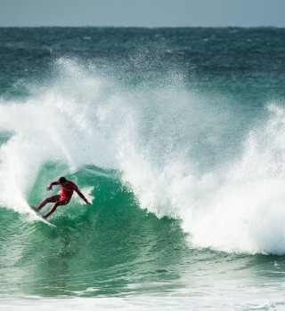 Felipe Toledo competes in the 2016 This Way In J-Bay competition South Africa
