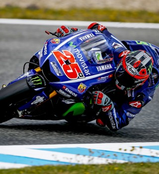 Maverick Viñales at the 2017 Grand Prix of Spain