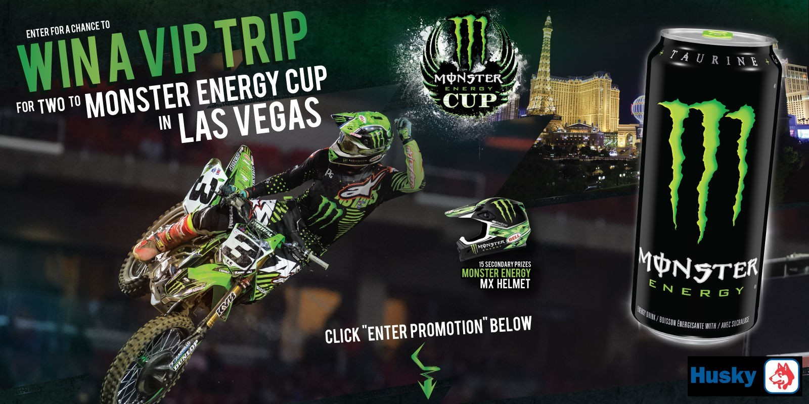 Promotion hero for Monster Energy Cup Promotion in Canada