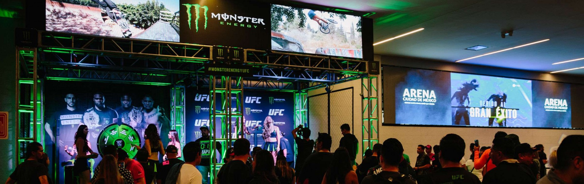 Monster Booth at UFC Mexico