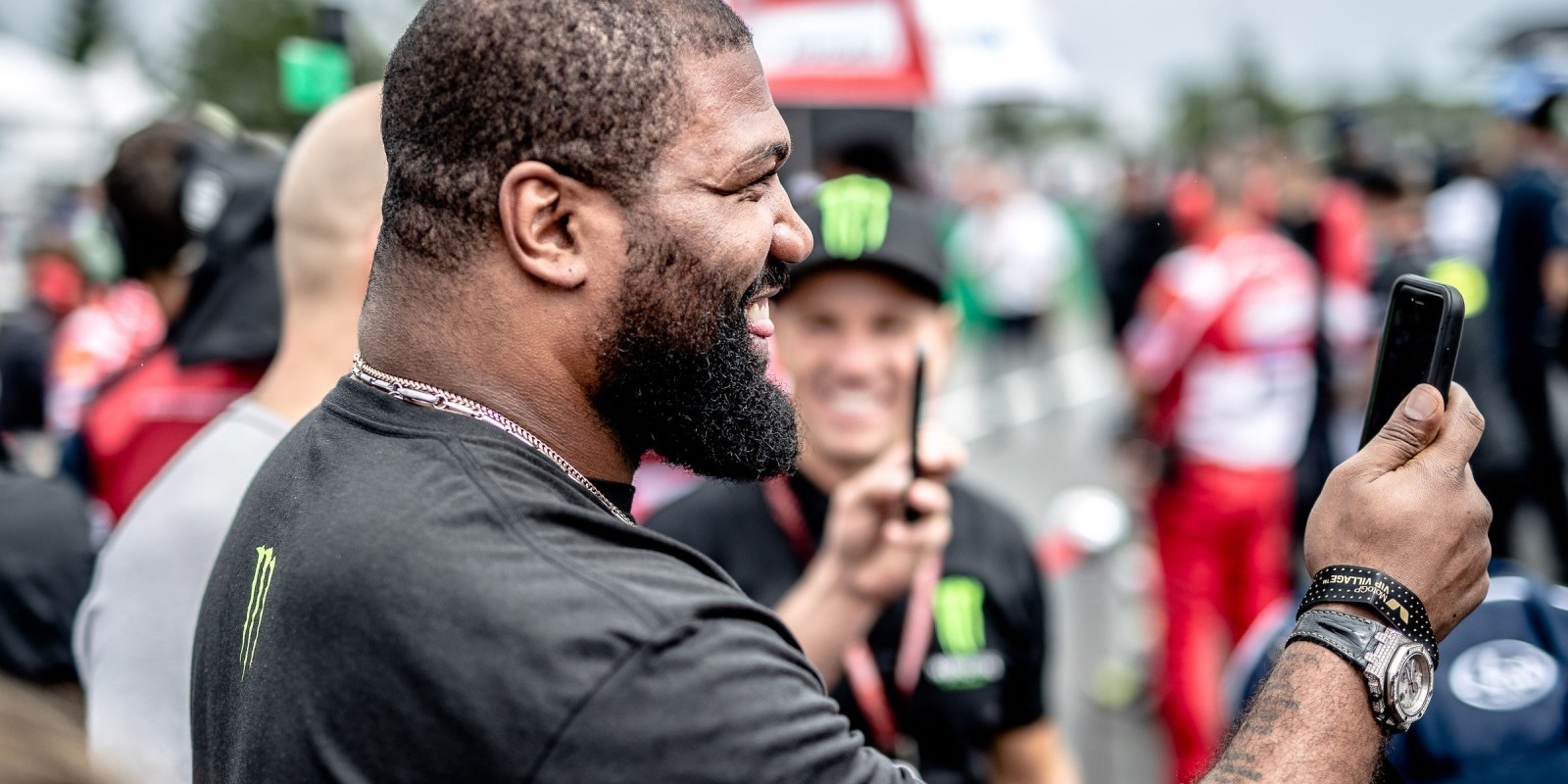 Quinton 'Rampage' Jackson at the 2017 Grand Prix of Czech Republic