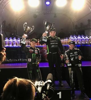 Dmitriy Illyuk on the podium at the Drift GP of Germany