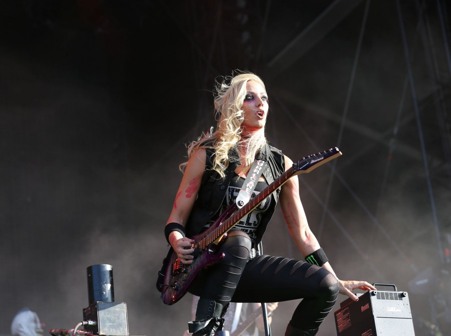 Nita Strauss at the Wacken in Germany.