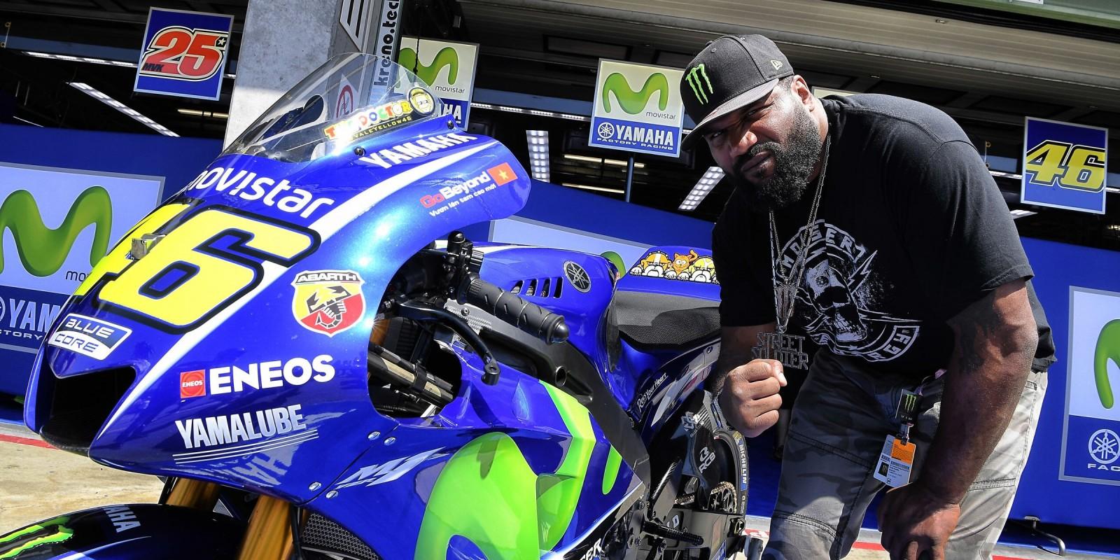 Quinton 'Rampage' Jackson at Brno MotoGP