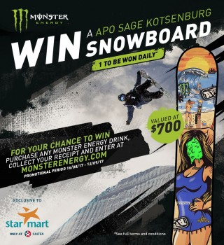 Caltex Win a Snowboard Everyday Promotion 16th August - 12th September, Australia