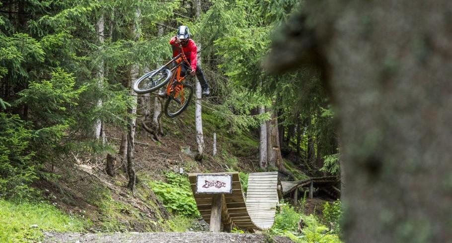 Sam Pilgrim at the MTB project in Austria.