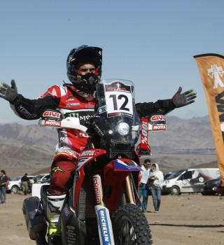 Kevin Benavides at the 2017 Atacama Rally