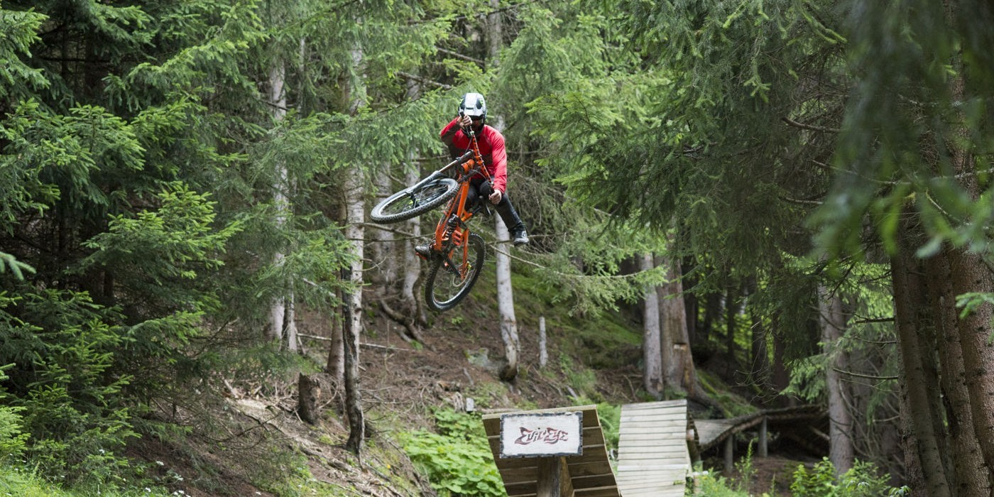 Sam Pilgrim at the MTB project in Austria.