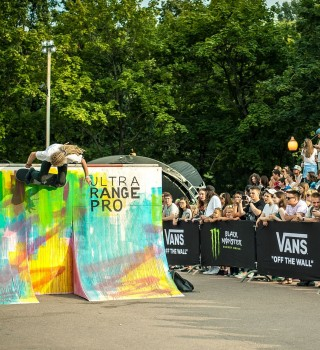 action at the Vans Shop  Riot  skate contest