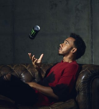 Lewis Hamilton with his signature product - 44