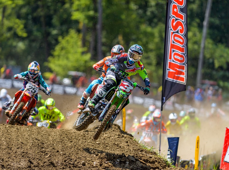Monster athletes at the motorcross Ironman Nationals at Ironman Raceway in Crawfordsville, IN