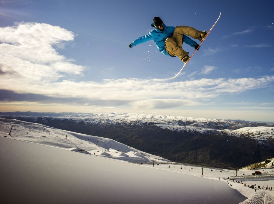 Will Jackways in the superpipe in Cardrona, New Zealand