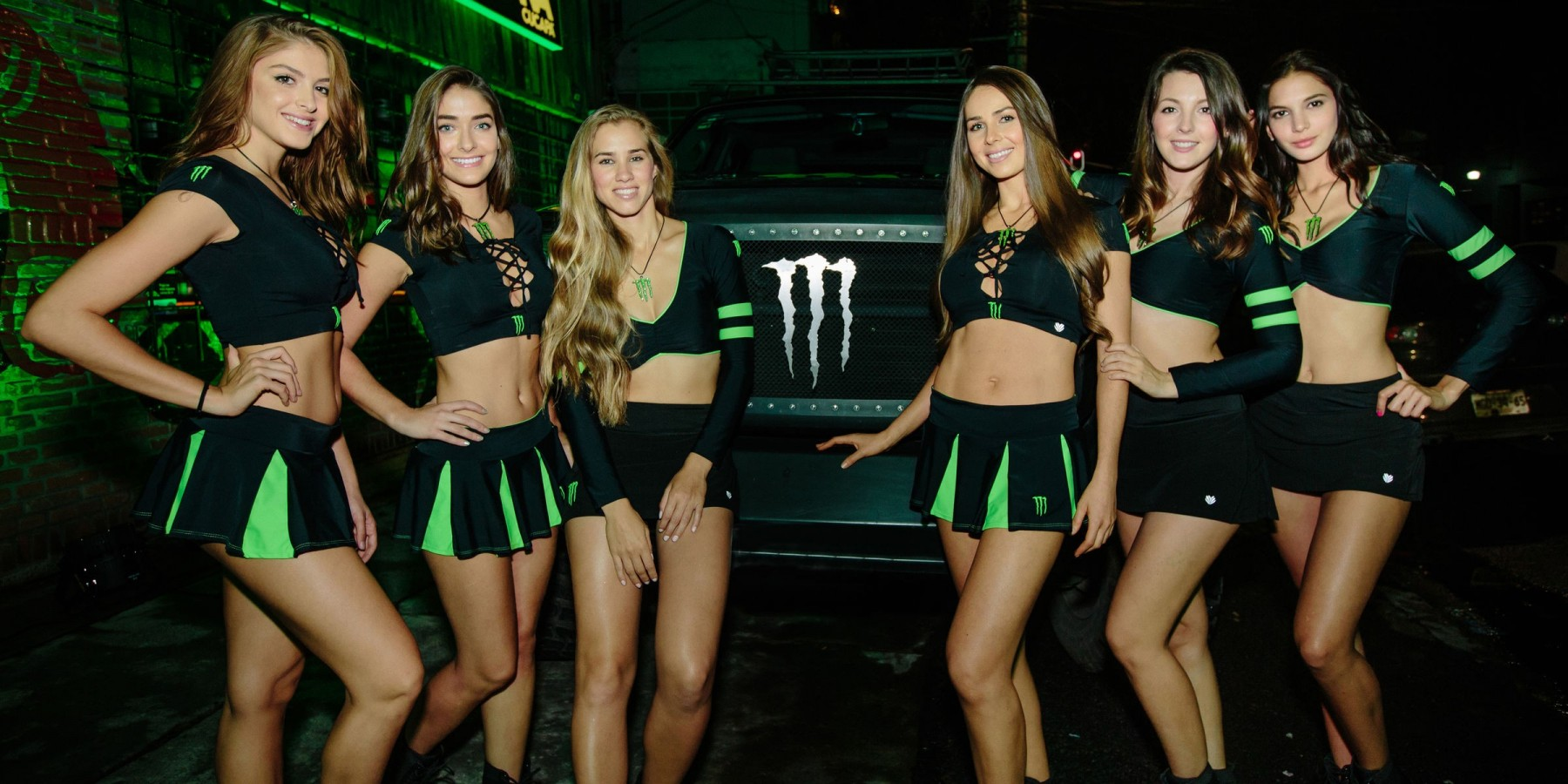 Monster Girls attending Monter Party Mexico City