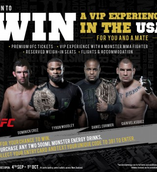 MEC Website Promo: UFC NZ 4th Sept - 1st Oct