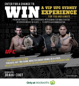Win a UFC Experience in Sydney Promotion