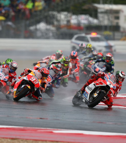 Image from the 2017 MotoGP Race 1 at Misano, Italy