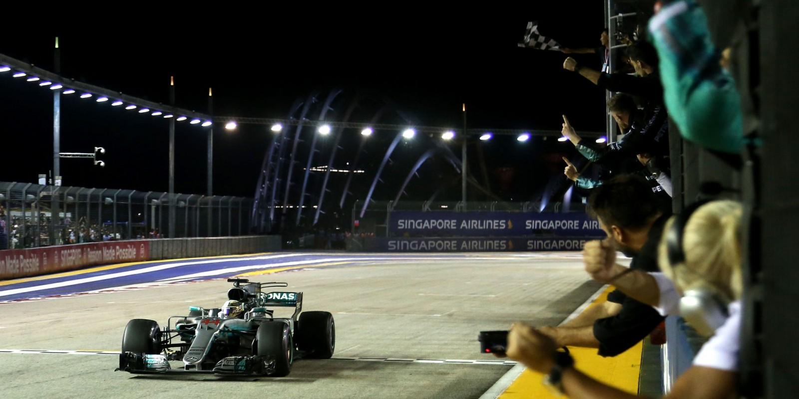 Sunday images from the 2017 Singapore Grand Prix