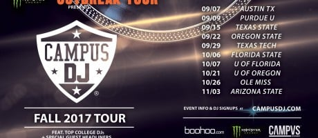 Monster Energy Outbreak Tour Campus DJ competition admat