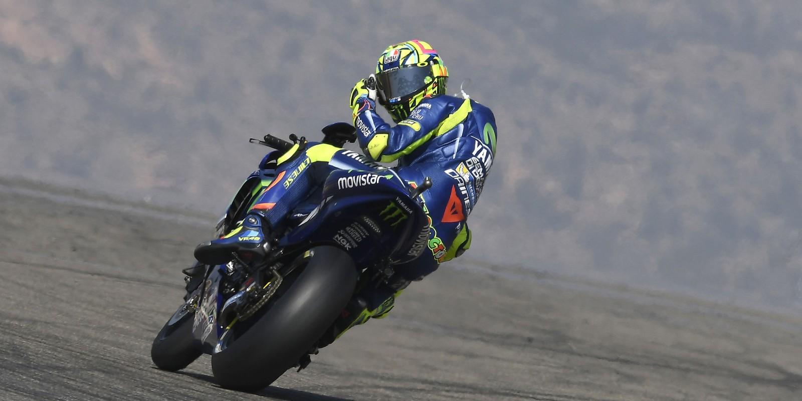 Valentino Rossi at the 2017 GP of Aragon