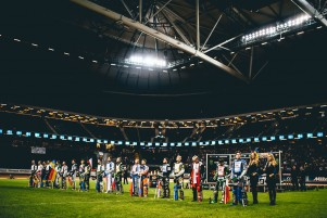 Images from Round 10 of the Speedway GP series from the Friends Arena in Stockholm
