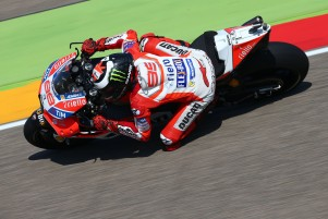 Jorge Lorenzo placed second at the Aragon Grand Prix